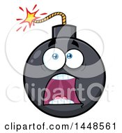 Clipart Of A Cartoon Scared Screaming Bomb Mascot Character Royalty Free Vector Illustration by Hit Toon