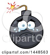 Clipart Of A Cartoon Crying Bomb Mascot Character Royalty Free Vector Illustration by Hit Toon