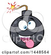 Clipart Of A Cartoon Goofy Bomb Mascot Character Royalty Free Vector Illustration