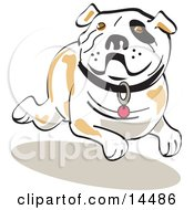 Running Bulldog Clipart Illustration