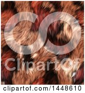 Clipart Of A Seamless Background Texture Of Red Animal Fur Royalty Free Illustration