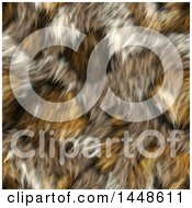 Clipart Of A Seamless Background Texture Of Yellow Animal Fur Royalty Free Illustration