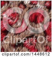 Clipart Of A Seamless Background Texture Of Pink Animal Fur Royalty Free Illustration