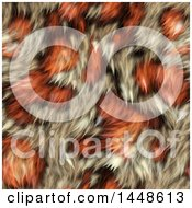 Clipart Of A Seamless Background Texture Of Orange Animal Fur Royalty Free Illustration