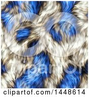 Clipart Of A Seamless Background Texture Of Blue Animal Fur Royalty Free Illustration