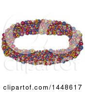 Clipart Of An Oval Frame Of Colorful Daisy Flowers Royalty Free Illustration