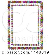Clipart Of A Frame Of Colorful Daisy Flowers Royalty Free Illustration