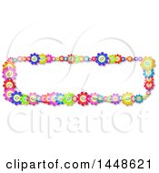 Clipart Of A Border Of Happy Colorful Daisy Flowers Royalty Free Illustration