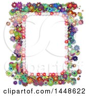 Clipart Of A Border Frame Of Colorful Daisy Flowers Royalty Free Illustration