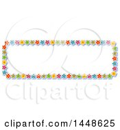 Poster, Art Print Of Border Of Colorful Flowers