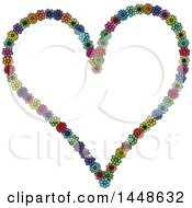 Poster, Art Print Of Heart Formed Of Colroful Daisy Flowers