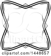 Clipart Of A Black And White Hand Drawn Frame Royalty Free Vector Illustration