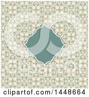 Vintage Frame Text Box Over A Floral Pattern