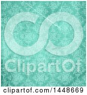 Distressed Green Vintage Floral Pattern Background