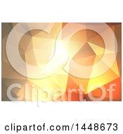 Geometric Low Poly Orange Background