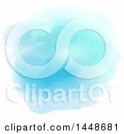 Clipart Of A Blue Watercolor Texture On White Royalty Free Vector Illustration
