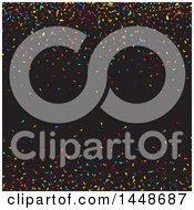 Poster, Art Print Of Background Of Colorful Confetti On Black