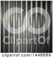 Clipart Of A Vertical Metallic Steel Stripes Background Royalty Free Illustration