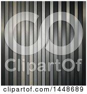 Vertical Metallic Steel Stripes Background
