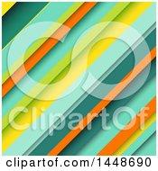 Background Of Retro Colored Diagonal Stripes