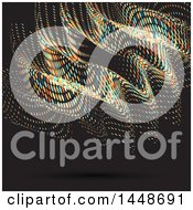 Background Of Colorful Halftone Dots On Black