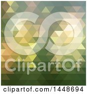 Clipart Of A Green Abstract Geometric Background Royalty Free Vector Illustration by KJ Pargeter