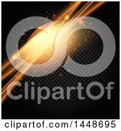 Clipart Of A Background Of Glowing Orange Lights On A Pattern Royalty Free Vector Illustration