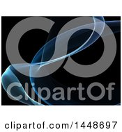 Clipart Of A Black Background With Blue Waves Royalty Free Illustration by KJ Pargeter