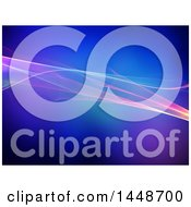 Background Of Flowing Waves On Blue And Purple