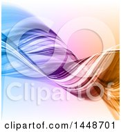 Clipart Of A Background Of Twisting Waves Royalty Free Vector Illustration