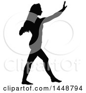 Black Silhouetted Woman Dancing