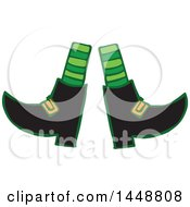 Clipart Of A St Patricks Day Leprechauns Feet And Socks Royalty Free Vector Illustration by Cherie Reve