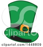 Clipart Of A St Patricks Day Leprechaun Hat Royalty Free Vector Illustration by Cherie Reve