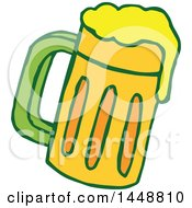 Clipart Of A St Patricks Day Beer Mug Royalty Free Vector Illustration by Cherie Reve