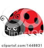 Clipart Of A Happy Ladybug Royalty Free Vector Illustration by visekart