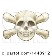 Clipart Of A Skull And Crossbones Royalty Free Vector Illustration by AtStockIllustration