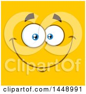 Happy Face On Yellow