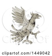 Clipart Graphic Of A Low Polygon Style Aztec Cuauhtli Showing An Eagle In A Fighting Stance Royalty Free Vector Illustration by patrimonio