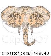 Sketched Mandala Styled Elephant Head
