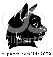 Poster, Art Print Of Black And White Cat Face In Profile