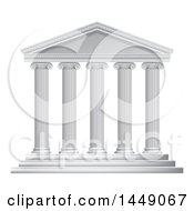 Clipart Graphic Of A 3d White Ancient Roman Or Greek Temple With Pillars Royalty Free Vector Illustration