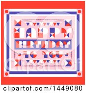 Clipart Graphic Of A Retro Happy Birthday To You Greeting Royalty Free Vector Illustration