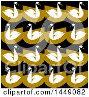 Flat Styled Swan Background