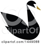 Clipart Graphic Of A Flat Styled Black Swan Royalty Free Vector Illustration by elena