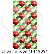 Clipart Graphic Of A Retro Geometric Berry Design Background Royalty Free Vector Illustration