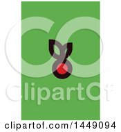 Clipart Graphic Of A Berry Design In Flat Style On Green Royalty Free Vector Illustration by elena