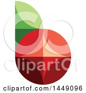 Clipart Graphic Of A Retro Flat Styled Berry And Leaf Design Royalty Free Vector Illustration by elena