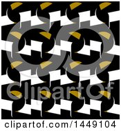 Clipart Graphic Of A Geometric Toucan At Night Pattern Royalty Free Vector Illustration
