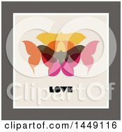 Retro Styled Moth And Love Design