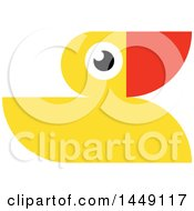 Clipart Graphic Of A Yellow Rubber Duck Royalty Free Vector Illustration